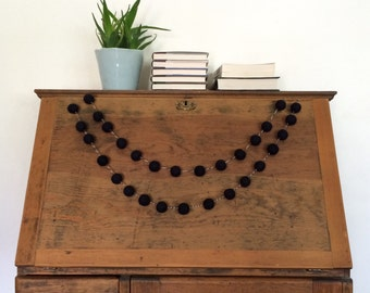 Black Felt Ball Garland