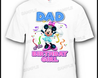 Dad of the Birthday Girl Minnie Mouse T-Shirt