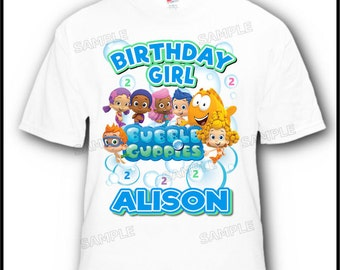 Personalized Bubble Guppies Birthday Boy Girl T-Shirt Design #3