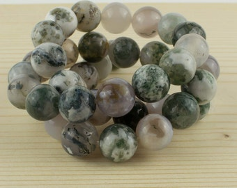 6 mm Moss agate beads • Moss agate stone •Agate gemstone beads•Moss green agate• Gemstone beads • Round agate beads • Natural agate beads