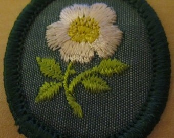 "Vintage Girl Scout Troop Crest ""Wild Rose"" circa 1960's"