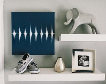 Heartbeat Canvas, Baby Heartbeat Art, Sound Wave Art, New Mom Gift, Boy Nursery Wall Art, Heart Beat, Baby Shower Gift, Soundwave Art
