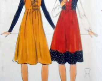 1960s Jumper Pattern, Butterick 4952 pattern, Sewing Pattern, size 10, Bust 32 1/2, 60s Clothing, Hippie, High Waist, Epsteam