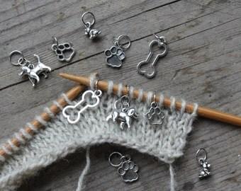 Doggish knitting - set of 10 stitch markers