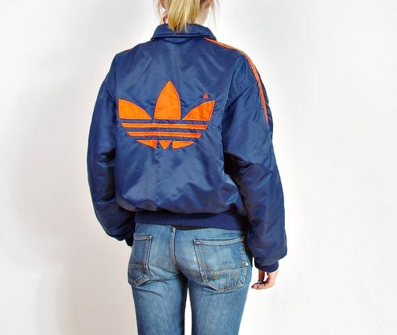 90s adidas oldschool unisex bomber jacket big logo hip hop. Black Bedroom Furniture Sets. Home Design Ideas