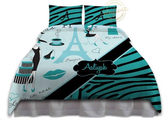 Print Childrens Themed Bedding Sets Blue Paris Bedroom Ideas 147
