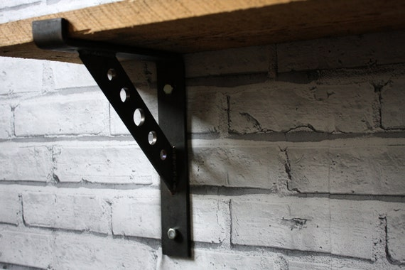 pair of heavy duty industrial steel shelf brackets scaffold. Black Bedroom Furniture Sets. Home Design Ideas