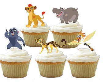 24 Lion Guard Cupcake Toppers