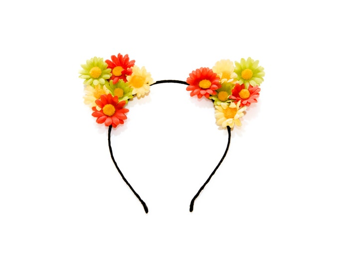 Rasta Cat Ear Headband