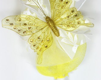 Yellow Butterfly - Greek Easter Candle (Lambatha)