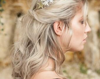 Star Hair Clip, Silver Hair Barrette, Boho Accessory, Boho Hair Accessory, Silver Hair Clip, Boho Barrette, Bohemian Hair Clip, Goddess Hair