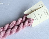 Hand dyed cotton thread / floss (6 strands) light fuchsia (134) for cross stitch / embroidery