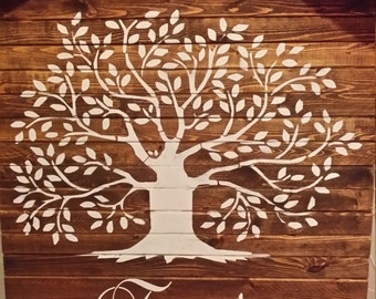 Family Tree  - **Reusable STENCILS**- TREE - 5 Sizes available- Use your favorite paint colors to Create Family Tree Signs and Pillows!