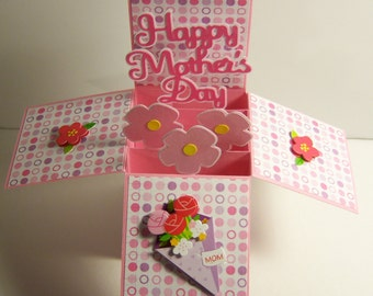 Mom Pink Dots Card in a Box
