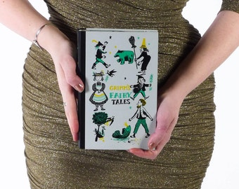 Book Clutch // Vintage Book Purse // Vintage Book Clutch // Grimm's Fairy Tale Book Purse