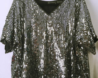vintage sequined top