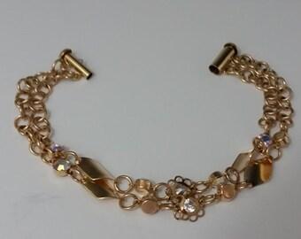 Multistrand 1/20 14K Gold Bracelet
