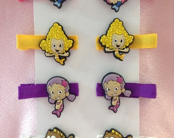 Bubble Guppies Girls Hair Clips 4 Pairs!