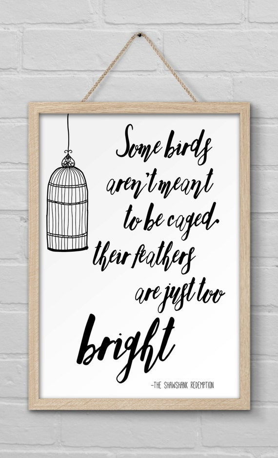 Art print 8x10 print wall art housewarming gift for Some birds aren t meant to be caged tattoo