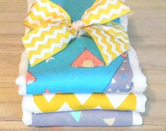 Camp Fire Burp Cloth Set - Baby Shower Gift