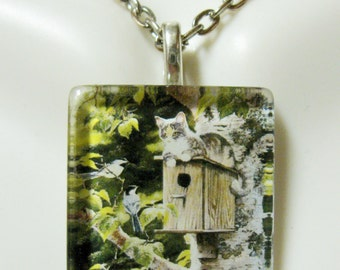 Smart kitty pendant and chain - CGP01-033