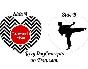 Taekwondo Keychain - Martial Arts Monogram Keychain