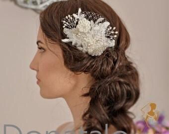 Wedding Hair Comb, Bridal Hair Comb, Bridal Headpiece, Wedding headpiece, Lace  Bridal Head piece, Bridal hair accessories   - MAIA