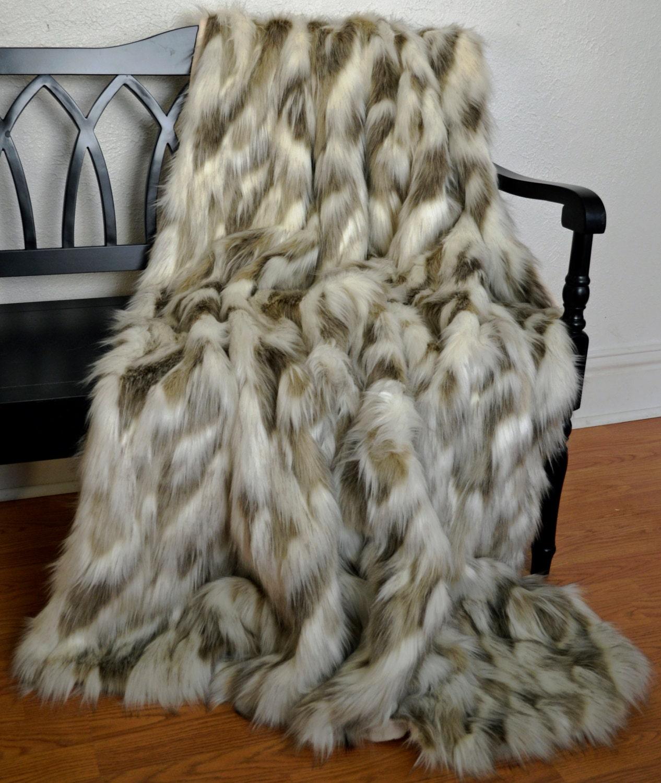 faux fur blanket throw fox fur blanket by cindyheitkampdesigns. Black Bedroom Furniture Sets. Home Design Ideas