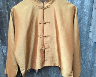 Gold Silk Reversible Kimono