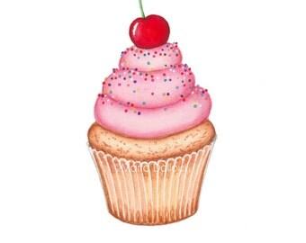 Cupcake Wall Art bakery wall art | etsy