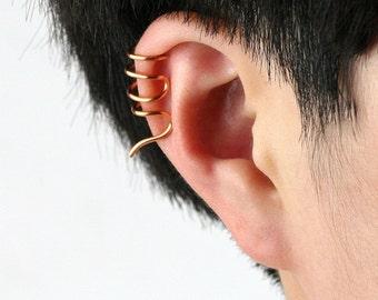 Handmade copper wire earrings (925 sterling silver optional) geometric nickel free