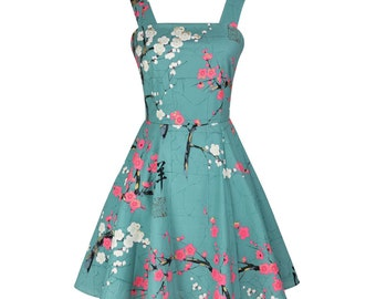 MYK059 Blue Summer Dress 2016 Elegant Temperament Self-cultivation Plum Flowers Printed Sleeveless Dresses Chinese Stylish Fashion