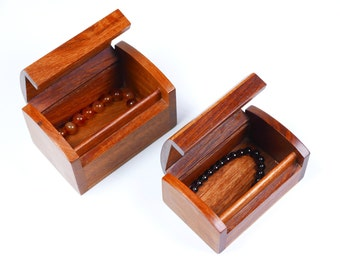 Two Sizes Options Rosewood Storage Box, Jewelry Chest, Medicine Chest, Trinket Box, Box Supply