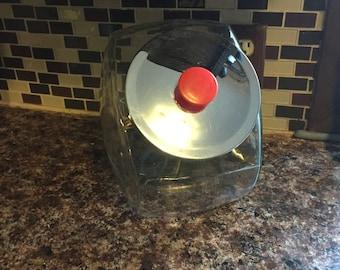 Large Vintage 2 Gallon Slant Glass Counter Jar