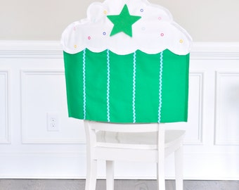 Cupcake Birthday Chair Cover