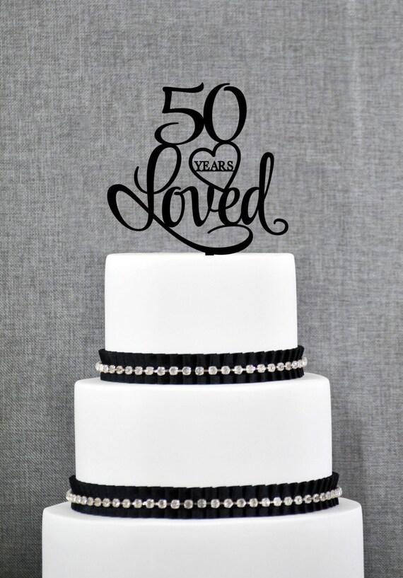 Ben noto 50 anni mi è piaciuto molto torte di compleanno 50th eleganti PE39
