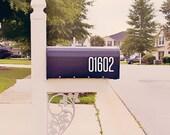 Thick Modern Mailbox Number Decal, Custom Mailbox Sticker - 006