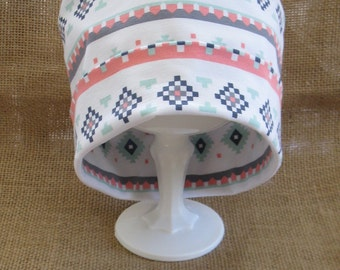 Chemo Cap or Beanie Soft Stripe Cotton Womens Chemo Hat and Headgear