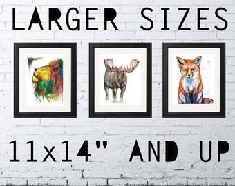 "11 X 14"" & UP - Watercolor Fine Art Print, Giclee Print"