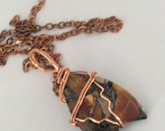 PICASSO JASPER wire wrapped