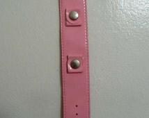 Vintage Hot Pink Fushia Wrist Watch Band Mod Hippie Bracelet 1960s