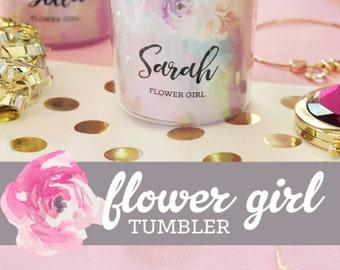 Flower Girl Cup -Flower Girl Gift Ideas -Flower Girl Tumbler -Flower Girl Water Bottle - Flower Girl Ideas Flower Girl Sippy Cup (EB3158FLG)
