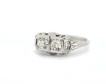 Daisy Filigree Diamond Ring 14K Gold