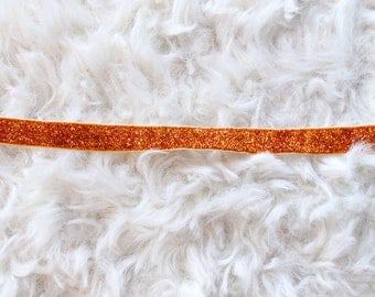Golden Amber Glitter Stretch Velvet Choker