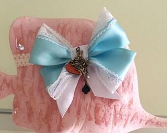 Headband matching Ruffled Romper, Alice in Wonderland Hair Bow, Cookie Monster Head Scarf, Hair accessories