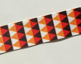 """3 yds - 1.5"""" Fall Halloween Thanksgiving Autumn Grosgrain Ribbon - Modern Candy Corn"""