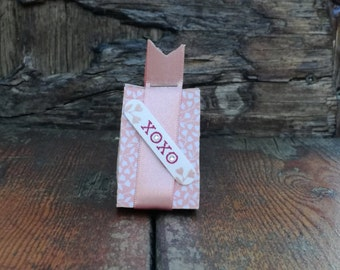 Hugs and Kisses Mini Gift Bag, XOXO, Hugs, Kisses, Love, Romance, Romantic, Wedding, Wedding Favour, Engagement, Pink, Pretty, Stampin' Up