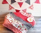 Play Quilt, Doll Quilt, Photo Prop Quilt, Lovey Quilt, Mini Quilt, Strip Quilt,  Baby Doll Quilt, PHoToGRaPHY PRoPS!! RTS!!