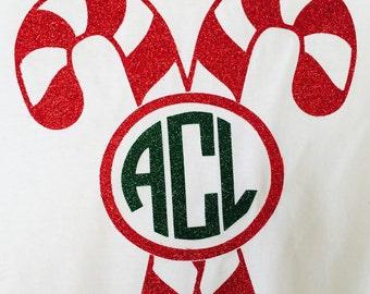 Adult Monogram Christmas T-Shirts