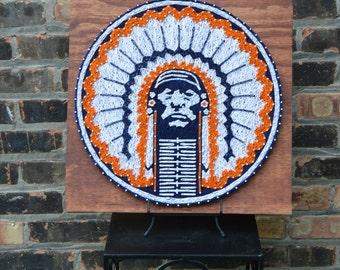 Illini Chief String Art